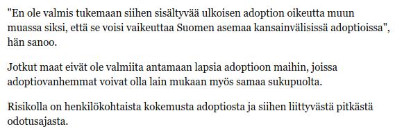 Paula Risikko, Helsingin Sanomat 17.5.2014